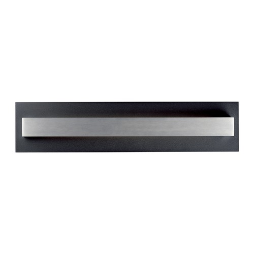 ET2 Lighting ET2 Alumilux Black / Satin Aluminum LED Outdoor Wall Light E41292-BKSA