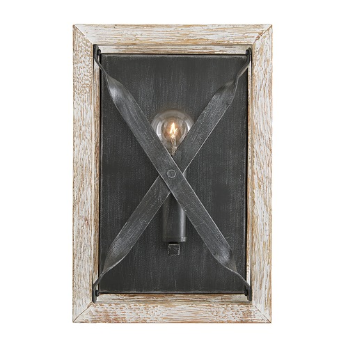 Capital Lighting Capital Lighting Remi Brushed White Wash and Nordic Iron Sconce 640411WN