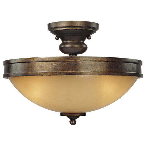 Minka Lavery Semi-Flushmount Light in Deep Flax Bronze Finish 4232-288