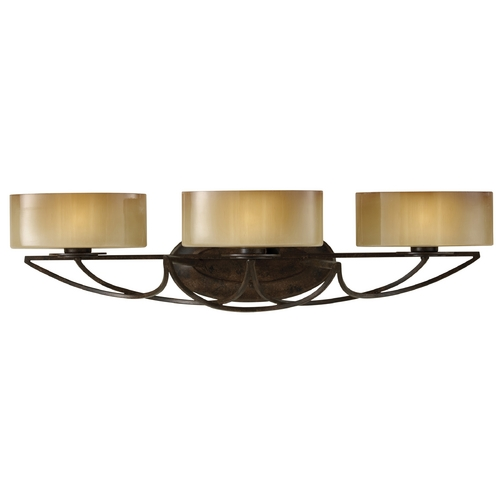 Feiss Lighting Bathroom Light with White Glass in Mocha Bronze Finish VS17803-MBZ