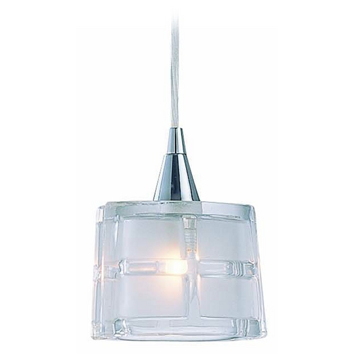 Lite Source Lighting Mini-Pendant Light with White Glass LS-18981C/CLR