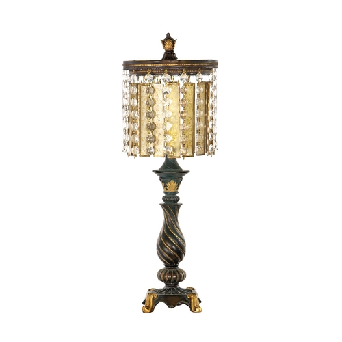 Dimond Lighting Table Lamp with Amber Glass 93-090