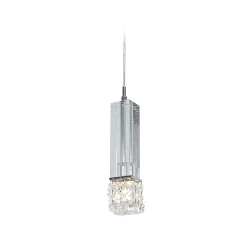 Access Lighting Modern Mini-Pendant Light with Clear Glass 51017-CH/CCL