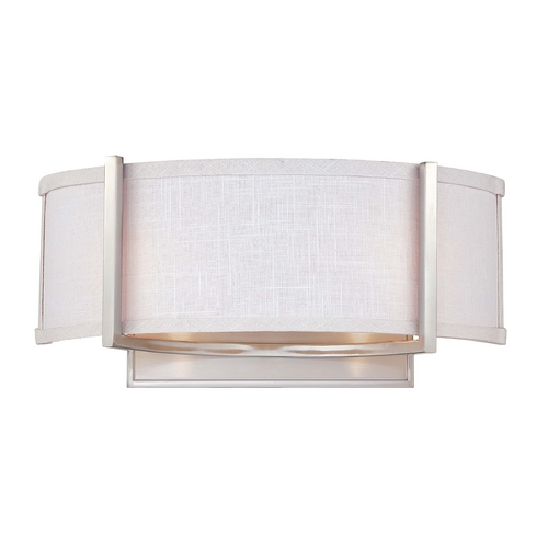 Nuvo Lighting Modern Sconce with Grey Shade in Brushed Nickel Finish 60/4754