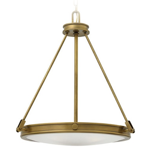 Hinkley Lighting Hinkley Collier Heritage Brass Pendant Light 3384HB