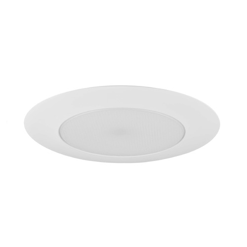 Recesso Lighting by Dolan Designs White Alabite Shower Trim with Plastic Ring for 6-Inch Recessed Cans T609P-WH