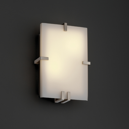 Justice Design Group Justice Design Group Fusion Collection Sconce FSN-5551-OPAL-NCKL