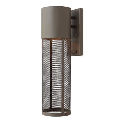 Hinkley Lighting Modern Outdoor Wall Light in Buckeye Bronze Finish 2304KZ