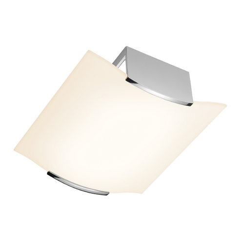 Sonneman Lighting Modern Flushmount Light with Etched Glass in Polished Chrome Finish 3879.01