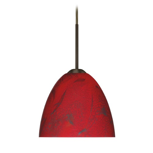 Besa Lighting Besa Lighting Sasha Ii Bronze LED Mini-Pendant Light with Bell Shade 1BT-7572MA-LED-BR