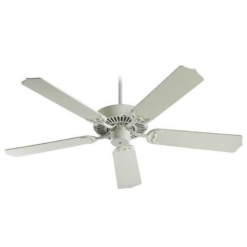 Quorum Lighting Quorum Lighting Capri Antique White Ceiling Fan Without Light 77425-67