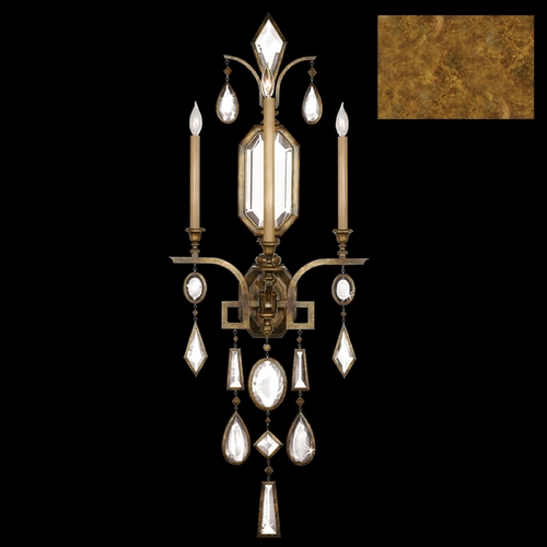 Fine Art Lamps Fine Art Lamps Encased Gems Gold Leaf Sconce 727050-3ST