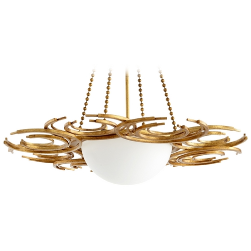 Cyan Design Cyan Design Vivian Gold Leaf Pendant Light with Bowl / Dome Shade 06914
