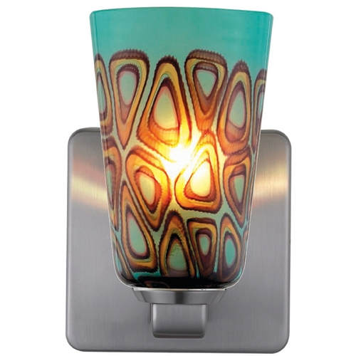 Oggetti Lighting Oggetti Lighting Carnivale Satin Nickel Sconce 22-5707G