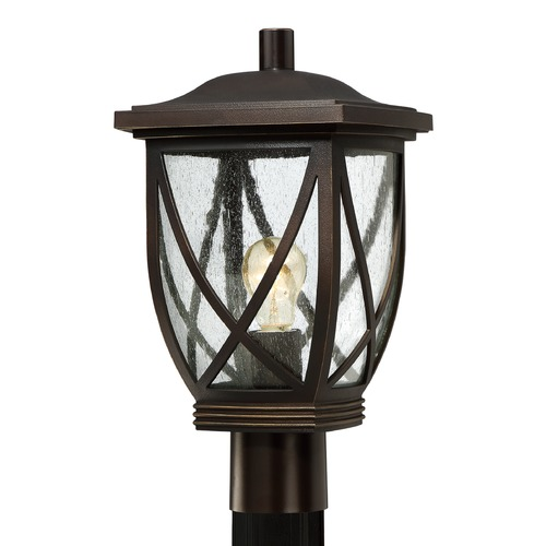 Quoizel Lighting Quoizel Tudor Palladian Bronze Post Light TDR9009PN