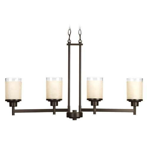 Progress Lighting Progress Lighting Alexa Antique Bronze Island Light with Cylindrical Shade P4619-20