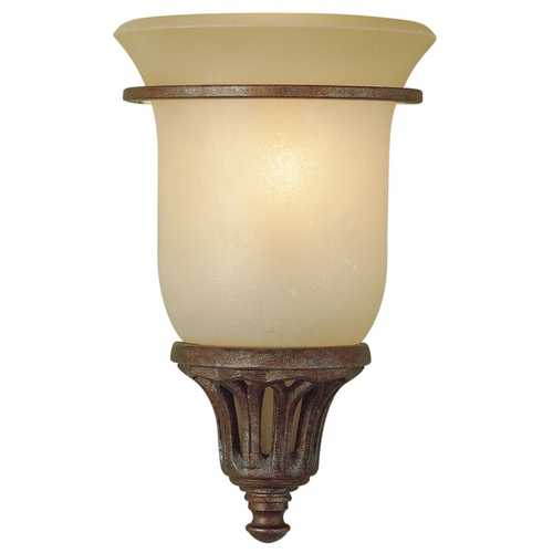Feiss Lighting Sconce Wall Light with White Glass in British Bronze Finish WB1237BRB