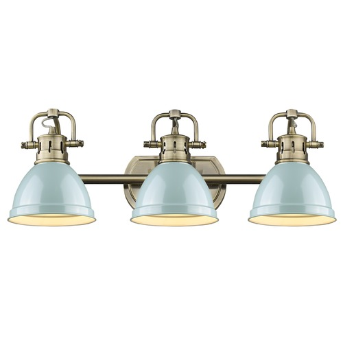 Golden Lighting Golden Lighting Duncan Ab Aged Brass Bathroom Light 3602-BA3 AB-SF