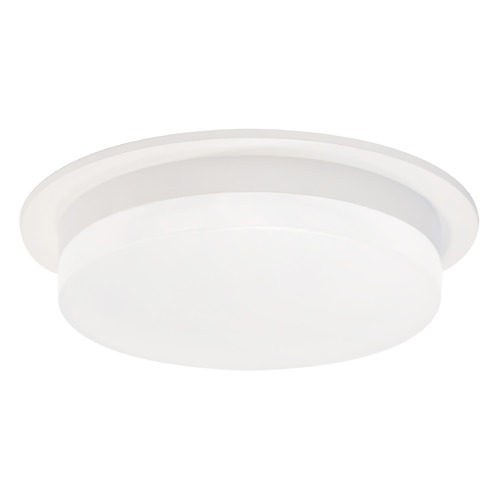 Kuzco Lighting Modern White LED Flushmount Light with Frosted Shade 3000K 1000LM FM42806-WH