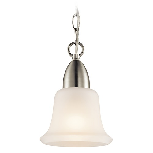 Kichler Lighting Kichler Mini-Pendant Light with White Glass 42880NI