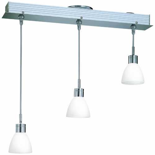 Lite Source Lighting Modern Low Voltage Multi-Light Pendant Light with White Glass and 2-Lights LS-19473FRO