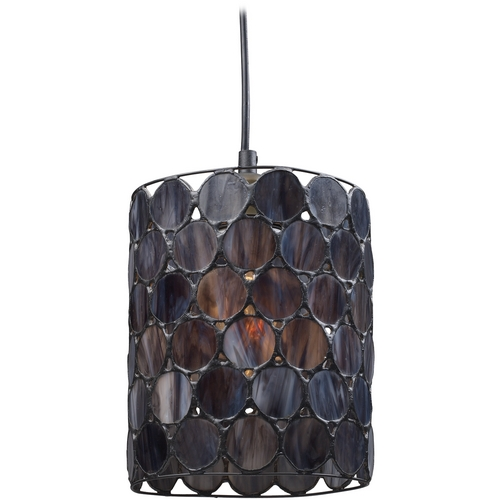 Elk Lighting Mini-Pendant Light with Grey Glass 72001-1