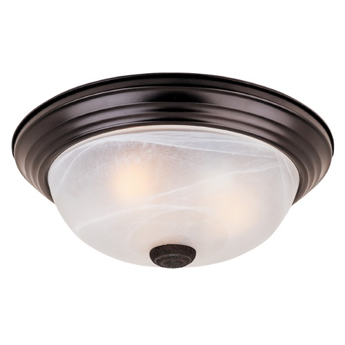 Designers Fountain Lighting Flushmount Light with Alabaster Glass in Oil Rubbed Bronze Finish 1257M-ORB-AL