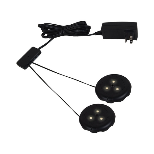 Sea Gull Lighting Sea Gull Lighting Ambiance Black LED Puck Light 98862SW-12