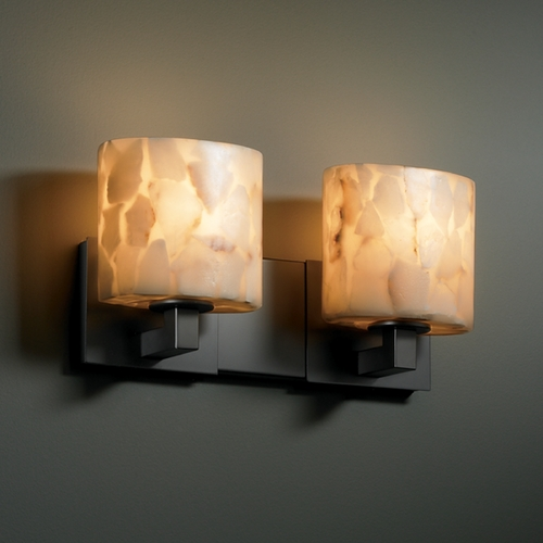 Justice Design Group Justice Design Group Alabaster Rocks! Collection Bathroom Light ALR-8922-30-MBLK