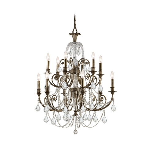 Crystorama Lighting Crystal Chandelier in English Bronze Finish 5119-EB-CL-S