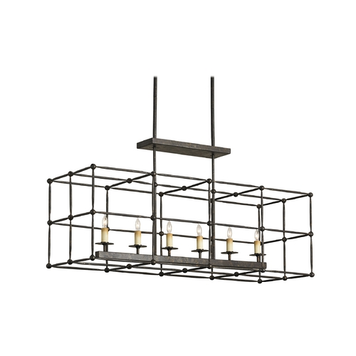 Currey and Company Lighting Modern Pendant Light in Mayfair Finish 9817
