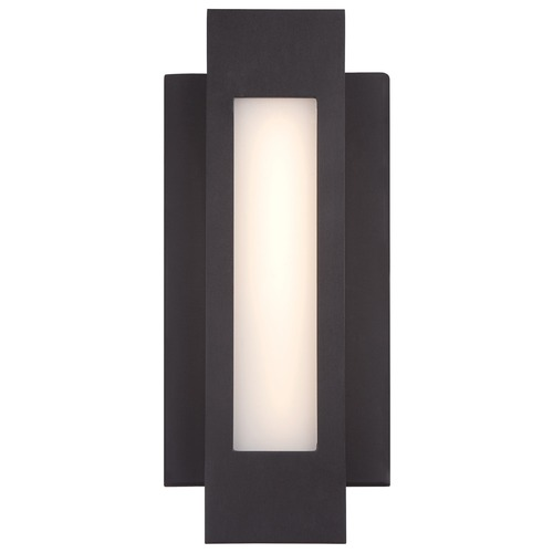 George Kovacs Lighting Minka Insert Pebble Bronze LED Outdoor Wall Light P1230-286-L