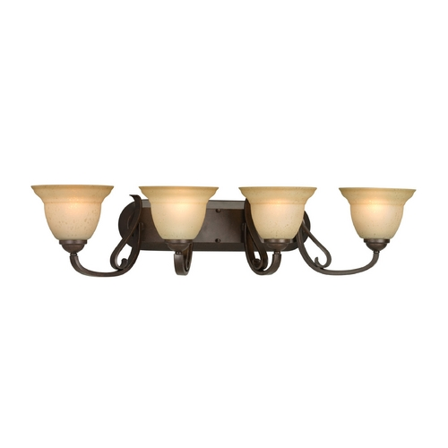Progress Lighting Progress Bathroom Light in Forged Bronze Finish P2884-77