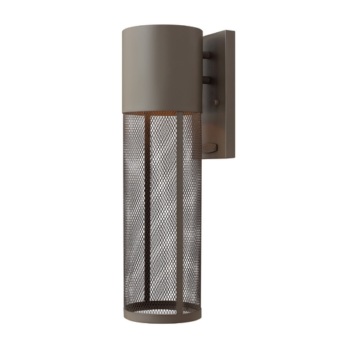 Hinkley Lighting Modern LED Outdoor Wall Light in Buckeye Bronze Finish 2304KZ-LED