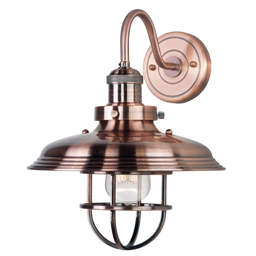 Maxim Lighting Maxim Lighting Mini Hi-Bay Antique Copper Sconce 25091ACP/BUI