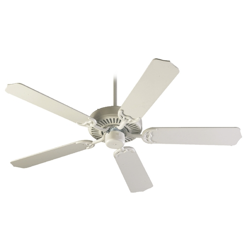Quorum Lighting Quorum Lighting Capri Studio White Ceiling Fan Without Light 77425-8