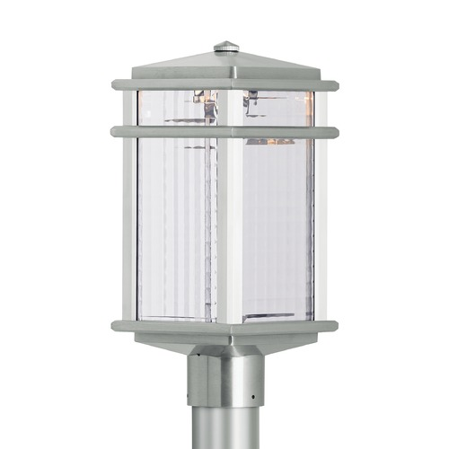 Feiss Lighting Feiss Lighting Mission Lodge Brushed Aluminum LED Post Light OL3407BRAL-LED