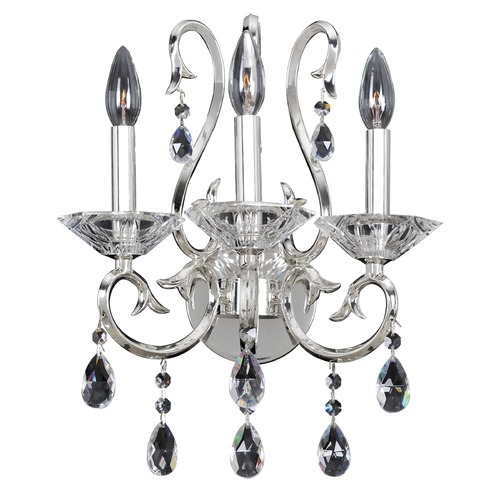Allegri Lighting Cesti 3 Light Wall Sconce w/ Black Pearl 023721-007-FR001