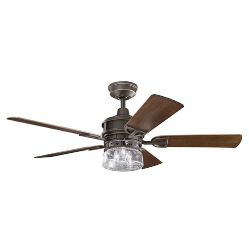 Kichler Lighting Kichler Lighting Lyndon Patio Olde Bronze Ceiling Fan with Light 310139OZ