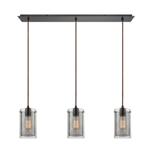 Elk Lighting Elk Lighting Brant Oil Rubbed Bronze Multi-Light Pendant with Cylindrical Shade 10448/3LP
