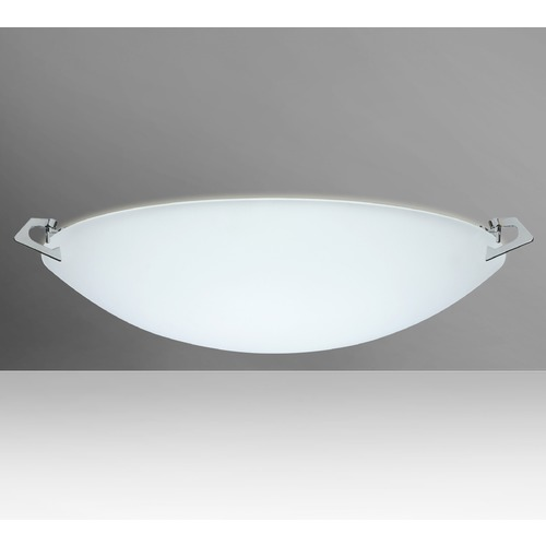 Besa Lighting Besa Lighting Sonya Frosted Glass Polished Nickel LED Flushmount Light 841825-LED-PN