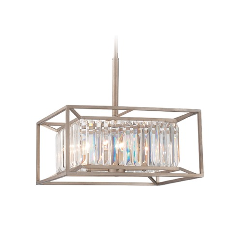 Designers Fountain Lighting Designers Fountain Linares Aged Platinum Pendant Light 87431-AP