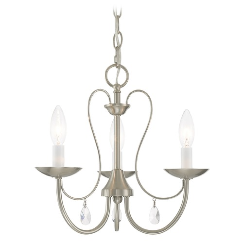 Livex Lighting Livex Lighting Mirabella Brushed Nickel Chandelier 40863-91