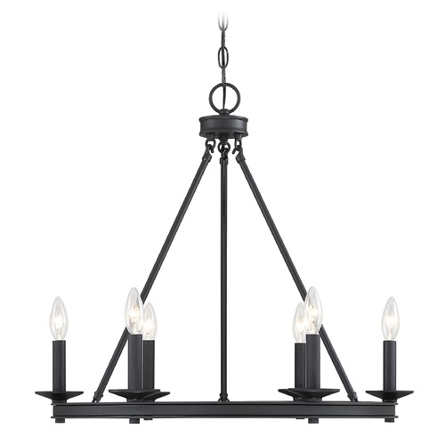 Savoy House Savoy House Lighting Middleton Matte Black Chandelier 1-307-6-89