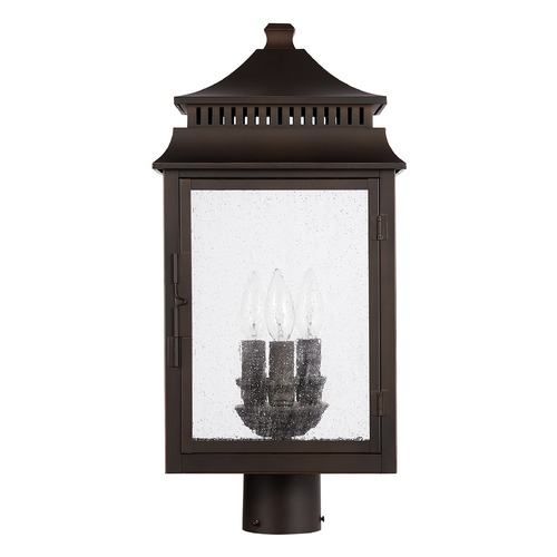 Capital Lighting Capital Lighting Sutter Creek 3-Light Oiled Bronze Post Light 936932OZ