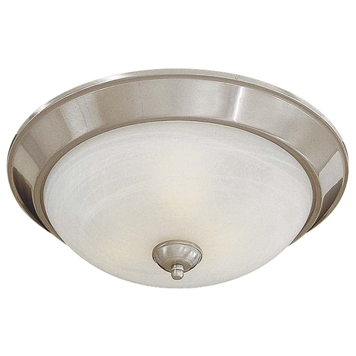 Minka Lavery Energy Star Flushmount Light in Brushed Nickel - Etched Marble Glass 893-84-PL