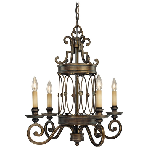 Minka Lavery Chandelier in Deep Flax Bronze Finish 4234-288