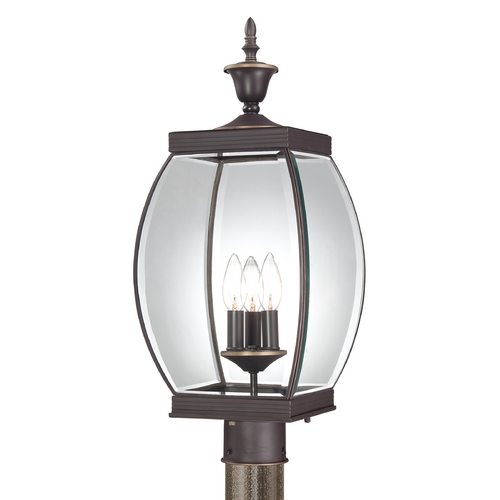 Quoizel Lighting Post Light with Clear Glass in Medici Bronze Finish OAS9009Z