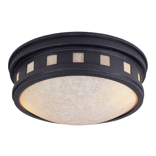 Designers Fountain Lighting Close To Ceiling Light with Amber Glass in Oil Rubbed Bronze Finish 2375-AM-ORB