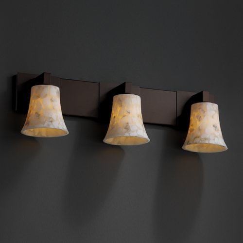 Justice Design Group Justice Design Group Alabaster Rocks! Collection Bathroom Light ALR-8923-20-DBRZ